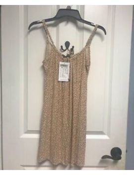 Brandy Melville Yellow Floral Cotton Adjustable Straps Josefine Dress Nwt S/M by Brandy Melville