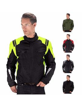 Viking Cycle Ironborn Motorcycle Textile Jacket For Men (Green, Medium) by Viking Cycle