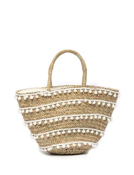 Vivian Pompom Vacay Tote Bag by Pink Haley