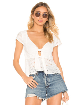 Julep Lace Tie Front Top by Minkpink
