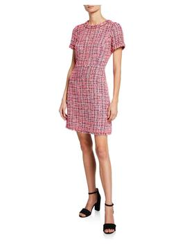 Multi Tweed Short Sleeve Sheath Dress by Kate Spade New York