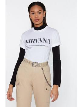 The Definition Of Nirvana Graphic Tee by Nasty Gal