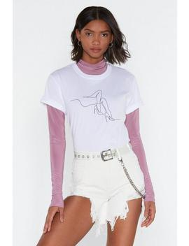 I'll Be Heel For You Stiletto Graphic Tee by Nasty Gal
