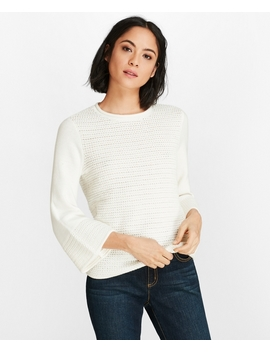 Crochet Bell Sleeve Sweater by Brooks Brothers