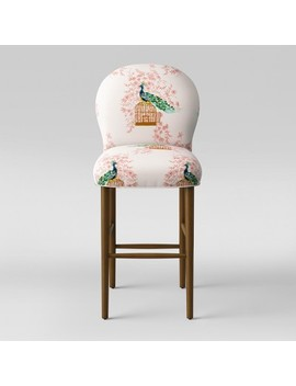 "32"" Caracara Rounded Back Barstool Peacock Blush   Opalhouse™ by Opalhouse"