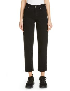 High Waist Straight Leg Crop Jeans by Matthew Adams Dolan
