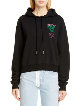 Island Print Crop Hoodie by Off White
