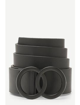 Matte Double Ring Buckle Boyfriend Belt by Boohoo