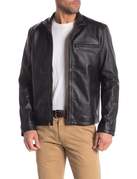 Genuine Leather Moto Jacket by Cole Haan