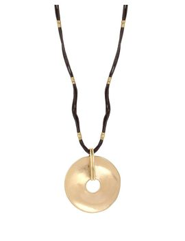 "Open Disc Pendant Necklace, 28"" by Robert Lee Morris Soho"