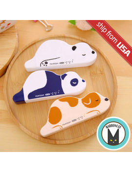 Lot 3 Lazy Panda Polar Bear Dog Correction Tape Cute Kawaii White Out Stationery by Aihao