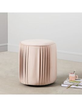 Roar + Rabbit™ Pleated Ottoman   Small by West Elm
