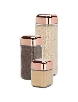 Honey Can Do® Square Storage Jar Set 3 Pc. by Honey Can Do