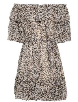 Off The Shoulder Printed Silk Georgette Mini Dress by Zimmermann