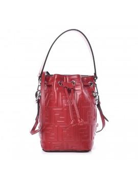 Fendi Calfskin Embossed Mini Mon Tresor Bucket Bag Strawberry by Fendi