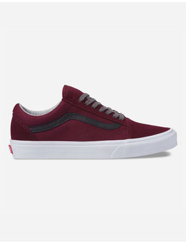 Vans Jersey Lace Old Skool Port Royale & Black Shoes by Vans