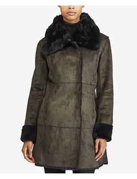 Faux Shearling Envelope Collar Coat by Lauren Ralph Lauren