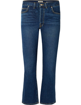 Jane Cropped High Rise Flared Jeans by Eve Denim