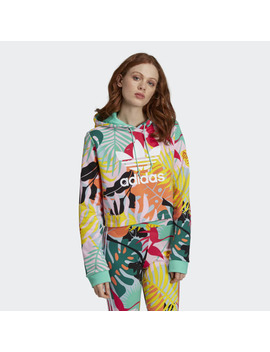 Tropicalage Cropped Hoodie by Adidas