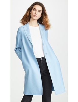 Overcoat With Studs by Harris Wharf London