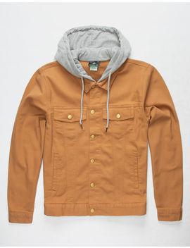 Lrg Two For One 2 Fer Chipmunk Mens Hooded Denim Jacket by Lrg