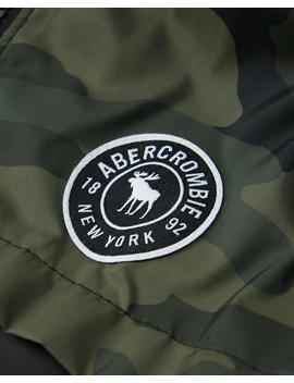 Fleece Lined Logo Windbreaker by Abercrombie & Fitch