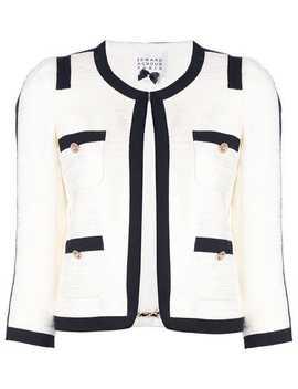 Contrasting Trim Tweed Jacket by Edward Achour Paris