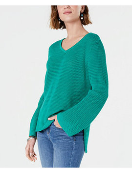 Cotton Waffle Stitch Sweater, Created For Macy's by Style & Co