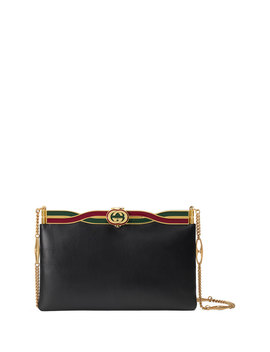Broadway Evening Palm Lux Leather Clutch Bag by Gucci