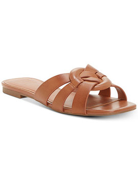 I.N.C. Women's Gargi Knot Front Woven Slide Sandals, Created For Macy's by International Concepts