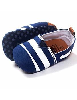 Ecosin Baby Blue Stripe Sneaker Anti Slip Soft Sole Toddler Prewalker (6 12months) by Ecosin
