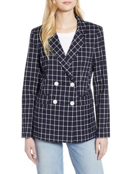 Double Breasted Check Blazer by Halogen®