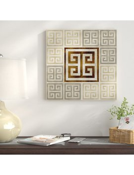 'greek Key Iii' Graphic Art Print On Canvas by East Urban Home