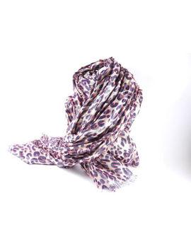 Auth Louis Vuitton Etole Leopard Disco Shawl Stole Cashmere Silk M72914 A 6778 by Louis Vuitton