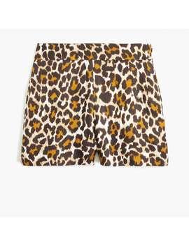 Trouser Short In Leopard by J.Crew
