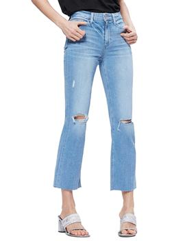 Atley Ripped Raw Hem Ankle Flare Jeans by Paige
