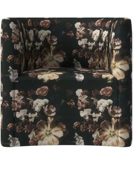 Covet Daphne Floral Curved Chair by Crate&Barrel