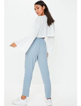 Blue Tie Waist Trousers by Missguided