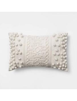 Oblong Pom Throw Pillow Cream   Opalhouse™ by Opalhouse