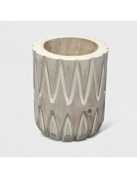 """10"""" Textured Wood Planter   Opalhouse™ by Shop Collections"""