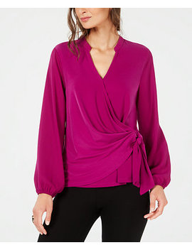 Faux Wrap Surplice Top, Created For Macy's by Alfani