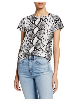 Snake Print Short Sleeve Cotton Tee by Rag & Bone