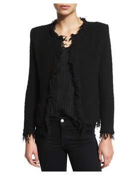 Iro Shavani Open Front Boucle Jacket by Iro