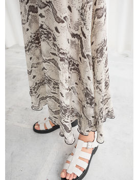 Snake Print Midi Skirt by & Other Stories