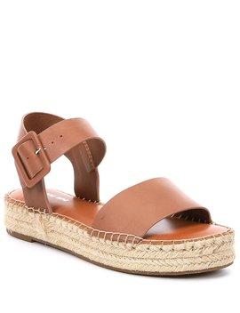 Kaygan Leather Espadrille Flatform Sandals by Gianni Bini