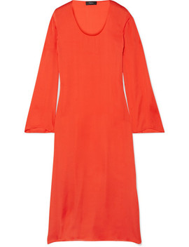 Silk Charmeuse Midi Dress by Theory