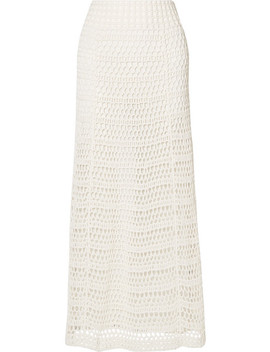 Crocheted Cotton Blend Maxi Skirt by Theory