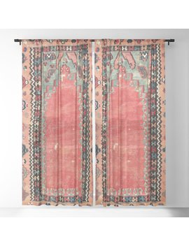 Sivas  Antique Cappadocian Turkish Niche Kilim Sheer Curtain by Society6