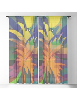 Tropical Sounds Sheer Curtain by Society6