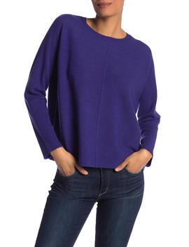 Dolman Sleeve Wool Sweater by Eileen Fisher